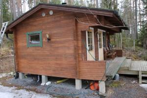 Lahtelan sauna komeasti kunnostettuna