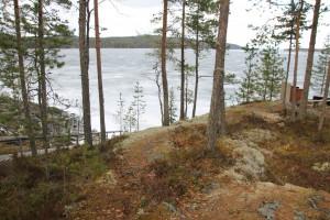 Huhtikuinen Päijänne-maisema Kärkelän kuistilta